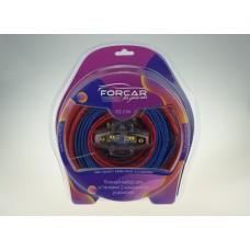 Установочный комплект проводов FORCAR SQ 2.04 для подключения 2х кан.усилителя 4 Ga