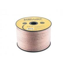 SWAT SCW-14 акустический кабель, 2*2,5мм2, прозрачный, ССА, катушка 100м