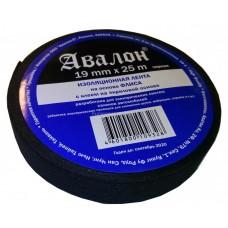 """Изолента """"AVALON"""" 19мм*0,35мм*25м ПЭТ ткань (черн.)"""