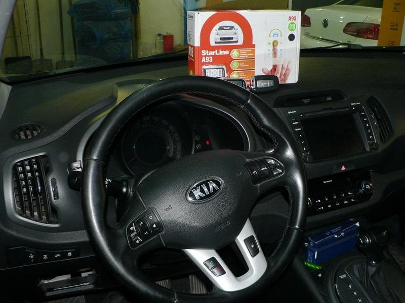 Установка сигнализации Starline на автомобиль Kia Sportage